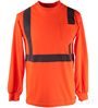Orange Reflective Long Sleeve Shirt SWATCH