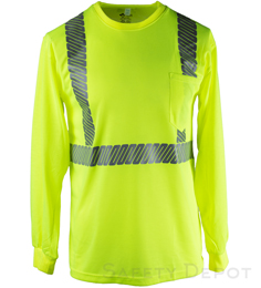 Yellow Lime Reflective Long Sleeve Shirt