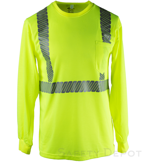Yellow Lime Reflective Long Sleeve Shirt MAIN