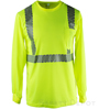 Yellow Lime Reflective Long Sleeve Shirt SWATCH