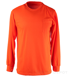 Hi Visibility Orange Long Sleeve THUMBNAIL