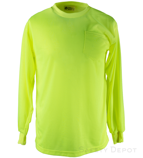 b0f2913b0a TL135 Lime/yellow long sleeve tee shirt Non Ansi