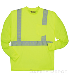 Yellow Lime Reflective Long Sleeve Shirt THUMBNAIL