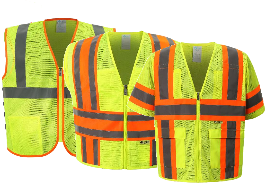 Road and highway yellow safety vest