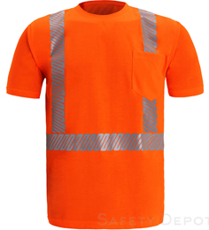 Orange Class 2 Reflective T-Shirt THUMBNAIL