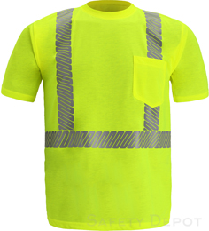 Yellow Class 2 Reflective Safety T-Shirt THUMBNAIL