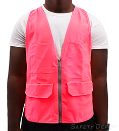 Unisex Pink Safety Vest THUMBNAIL