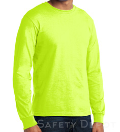Made in USA  Safety Long Sleeve Tee Shirt THUMBNAIL