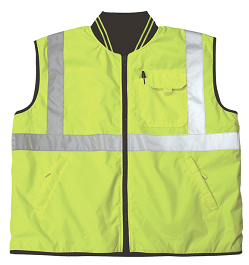 Yellow/Lime Reflective Body Warmer Vest_THUMBNAIL