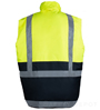 Lime Reflective Body Warmer SWATCH
