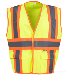 Yellow Class 2 Safety Vest THUMBNAIL