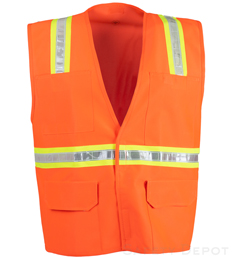 Orange Velcro Reflective Safety Vest_THUMBNAIL