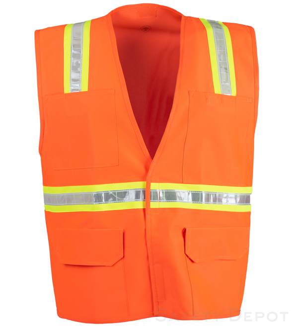 Orange Velcro Reflective Safety Vest_MAIN