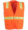 Orange Velcro Reflective Safety Vest_SWATCH