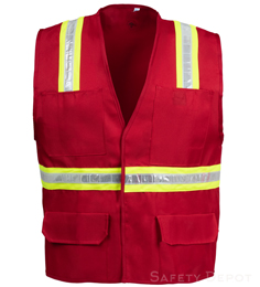 Red Velcro Safety Vest
