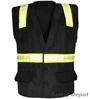 Black Velcro Safety Vest Mini-Thumbnail