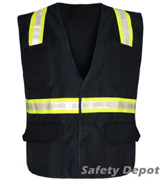 Navy Blue Velcro Safety Vest