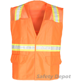 Orange Mesh Velcro Safety Vest