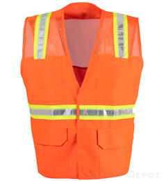 Orange Mesh Velcro Safety Vest THUMBNAIL