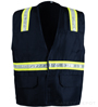 Navy Blue Velcro Safety Vest_SWATCH