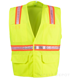 Lime Yellow Velcro Safety Vest THUMBNAIL