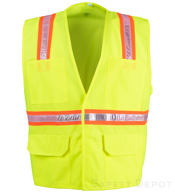 Lime Yellow Velcro Safety Vest_MAIN