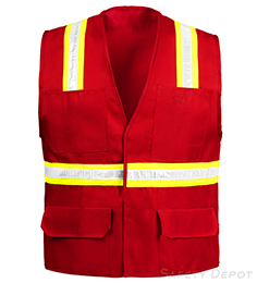 Red Velcro Safety Vest THUMBNAIL