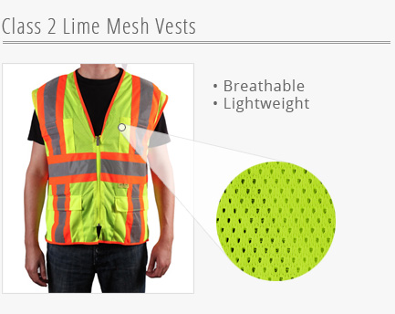 Lime Mesh Vests