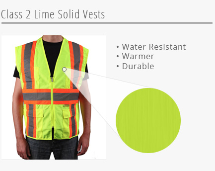 Lime Solid Vests