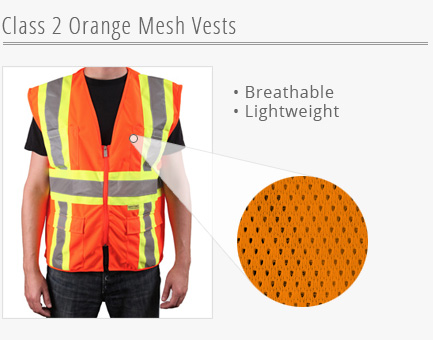 Orange Mesh Vests
