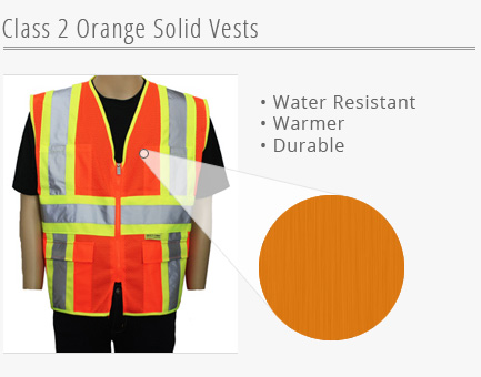Orange Solid Vests