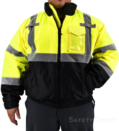 Hi Vis Yellow Safety Jacket THUMBNAIL