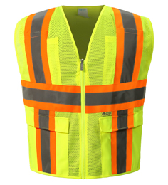 MESH CLASS 2 lime SAFETY VEST THUMBNAIL