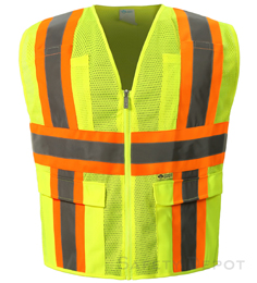 Safety-Yellow  Mesh Safety Vests THUMBNAIL