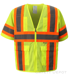 Safety Yellow Mesh Vest THUMBNAIL