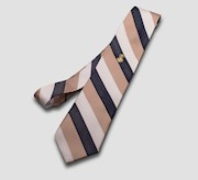 Blue/White/Tan SAR Silk Tie THUMBNAIL