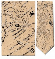 13 COLONIES MAP TIE THUMBNAIL