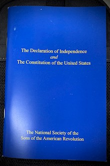 DECLARATION OF INDEP.  CONSTITUTION BOOKLET LARGE