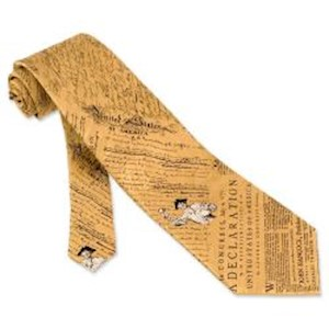 GOLD DEC. OF INDEPENDENCE TIE LARGE