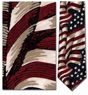 LARGE WAVING AMERICAN FLAG TIE LARGE