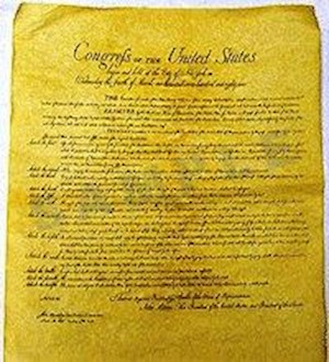 BILL OF RIGHTS POSTER LARGE