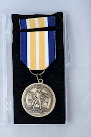 BRONZE ROTC MEDAL W/BAR & CERT THUMBNAIL