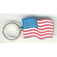 US FLAG KEYCHAIN (PVC) LARGE