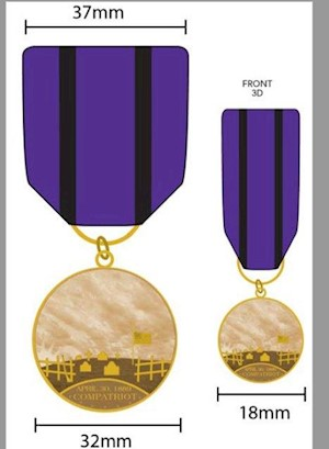 COMPATRIOT GRAVE MARKING MEDAL SET LARGE