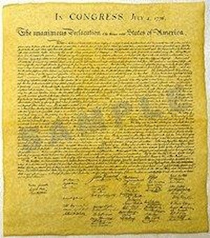 DECLARATION OF INDEPENDENCE LARGE