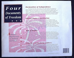 FOUR DOCS OF FREEDOM SET LARGE