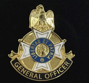 GENERAL OFFICER PIN LARGE