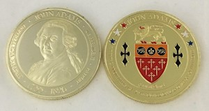 John Adams Challenge Coin LARGE