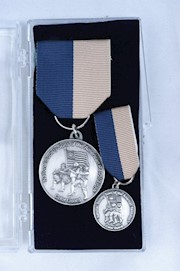 LARGE SILVER COLOR GUARD MEDAL SET THUMBNAIL