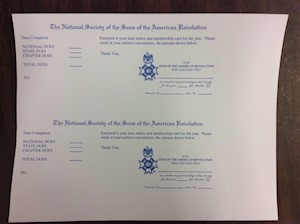 MEMBERSHIP DUES CARD (LASER) LARGE